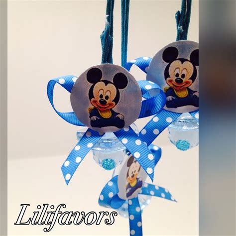 Mickey Mouse Baby Shower Items by Mickey Mouse Pacifier Necklaces For Quot Don T Say Quot Baby