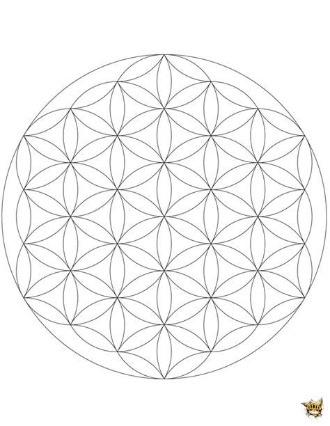 Coloriage Fleur De Vie Mandala