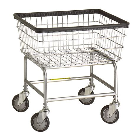 R B Wire 100e Standard Wire Frame Metal Laundry Cart 2 1 Metal Laundry