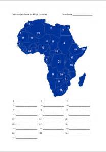 africa map numbered quiz quiz tips and ideas 187 2010 187 october
