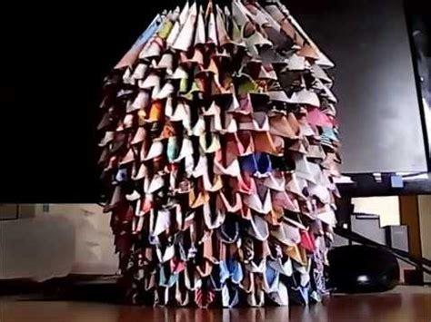 origami florero como hacer un florero origami 3d