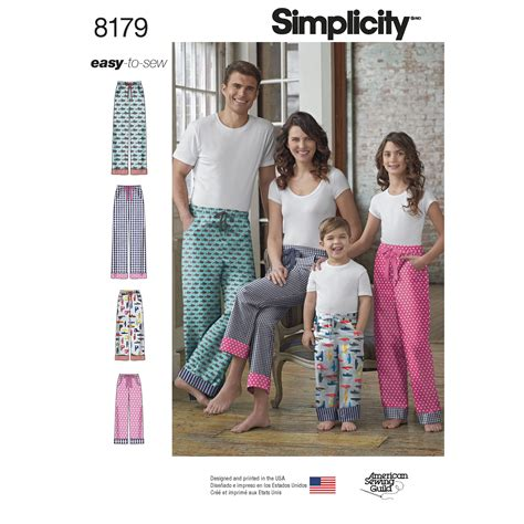 sewing patterns young adults simplicity 8179 child s teens and adults pants