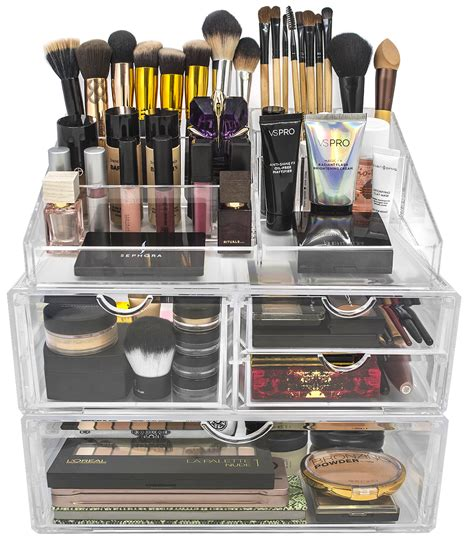 sorbus acrylic cosmetics makeup and jewelry storage display acrylic cosmetics makeup and jewelry storage x large