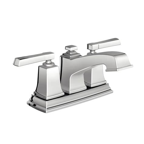 How To Install A Faucet In The Bathroom by Shop Moen Boardwalk Chrome 2 Handle 4 In Centerset