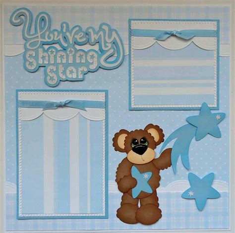 scrapbook layout baby boy blj graves studio baby boy scrapbook page