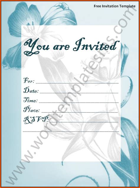 free invite templates for word amazing free invitation template word images resume