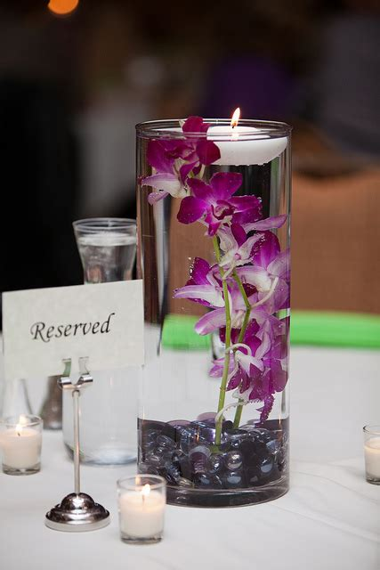 purple centerpieces ideas charming purple candle wedding centerpieces ideas and