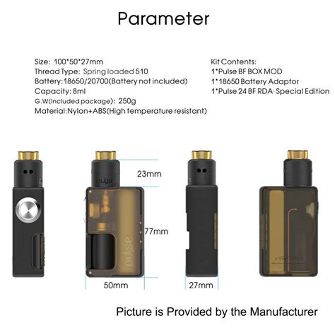 Vandy Finder Authentic Vandy Vape Pulse Bf Ultem Squonk Mod Pulse 24
