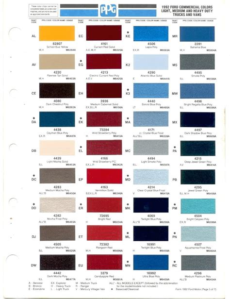 ford interior color code chart brokeasshome
