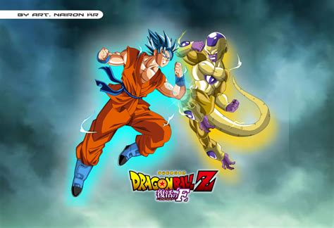 imagenes de goku golden goku ssgss vs golden freezer by naironkr on deviantart