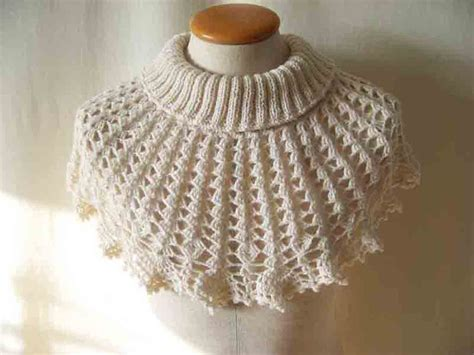 knit and crochet knitted capelet pattern catalog of patterns