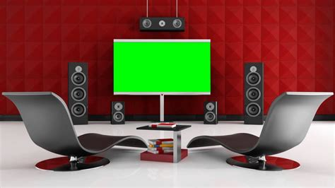 red home theater  green screen  stock footage youtube