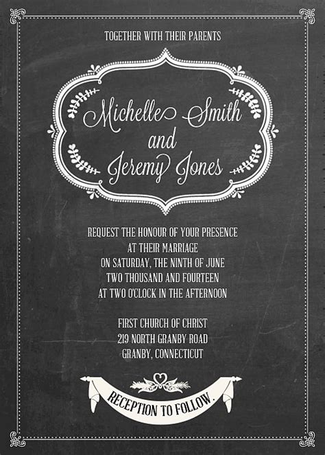 free chalkboard template 6 best images of chalkboard wedding printables free