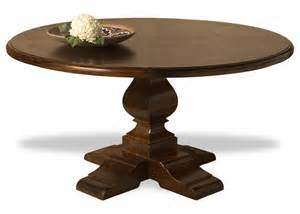 Solid Wood Round Dining Table by Valpariso Spanish Style Solid Chestnut Wood Center Round