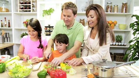 family kitchens kitchens that are friends for kids healthy professional caucasian family cooking home kitchen