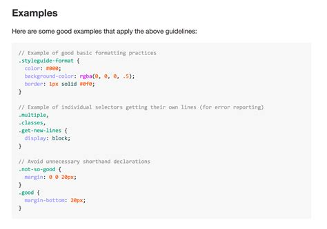 css layout guidelines enforcing css syntax style and more chandler web design