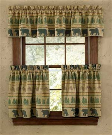 tracks lined rustic valances for cabin or lodge
