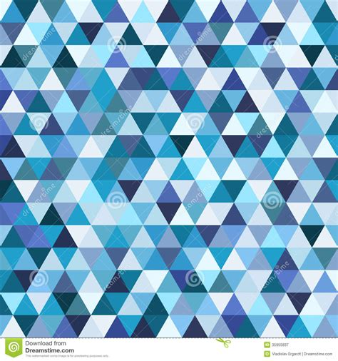 blue triangle pattern vector background geometric mosaic pattern from blue triangle royalty free