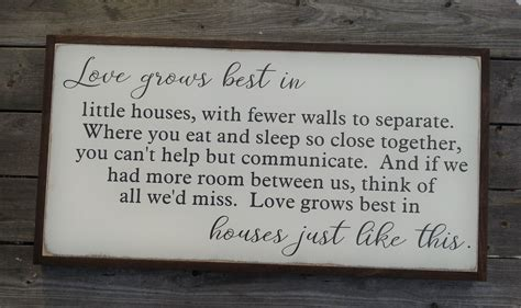 love grows best in little houses sign love grows best in little houses wood sign large farmhouse decor rustic decor