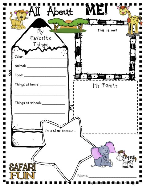 printable worksheets all about me 6 best images of all about me printables all about me