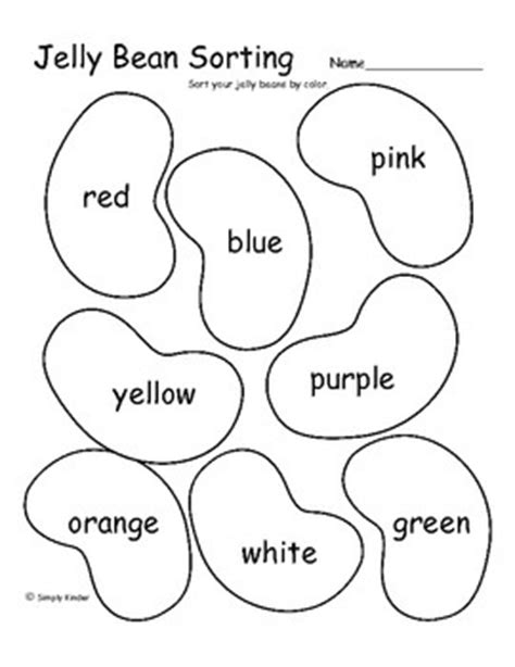 jelly template freebie jelly bean math teaching prekindergarten