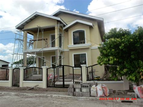 simple two storey house design savannah trails house construction project in oton iloilo