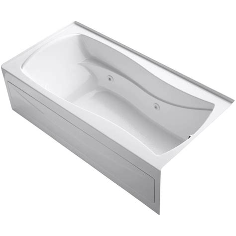alcove whirlpool bathtub kohler mariposa 6 ft acrylic right drain hourglass alcove