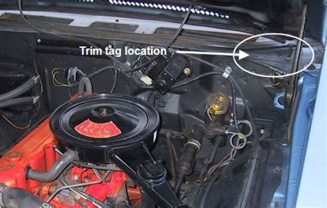 chevelle trim tag breakdown