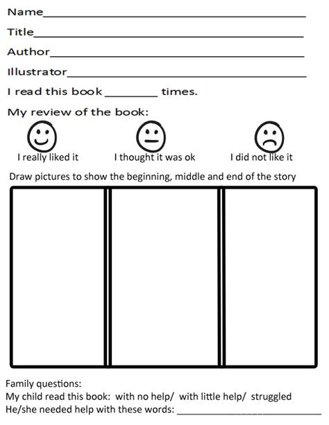 Free Book Report Templates For Kindergarten Kindergarten Book Report Template Classroom Ideas