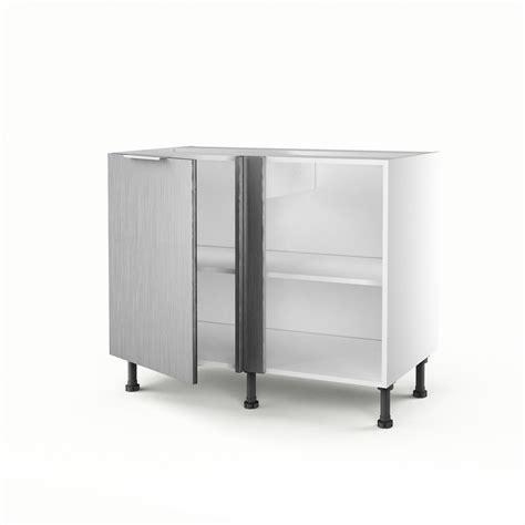 meuble d angle de cuisine free meuble de cuisine bas duangle dcor aluminium porte