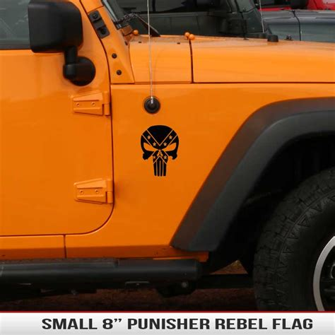 jeep rebel flag 8 quot universal punisher rebel flag