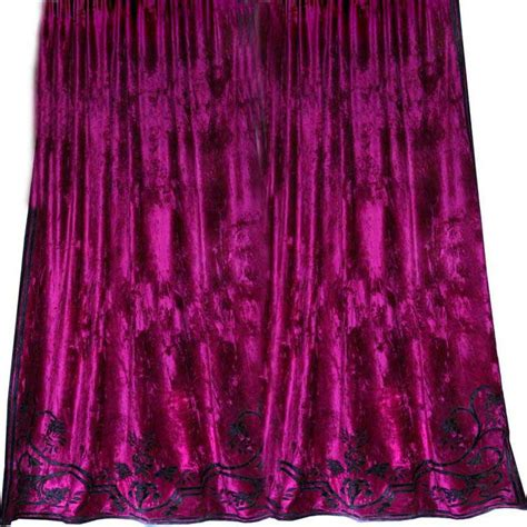 fuschia curtains faupel readymade curtains