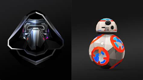 justin maller creates  poly star wars characters