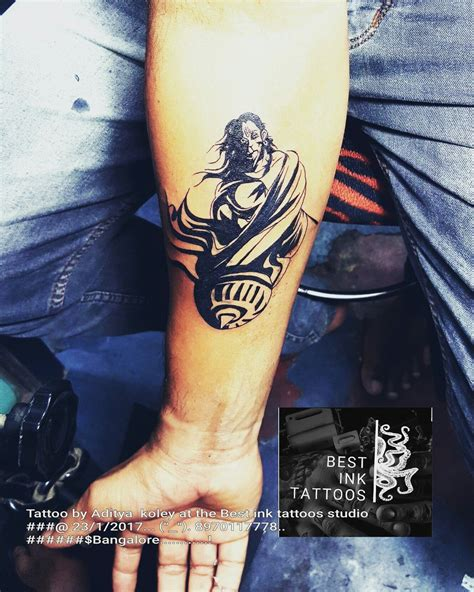 hanuman tattoo hanuman artist aditya koley bangalore tattoos to