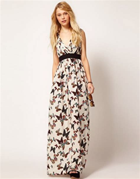 Buterfly Maxi butterfly print maxi dress