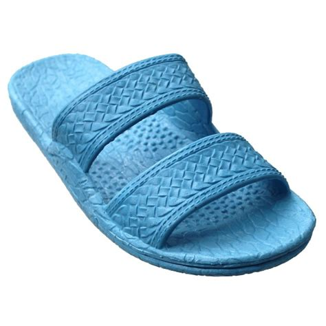 pali hawaii sandals pali hawaii sandals 405 sky blue unisex soft rubber slip