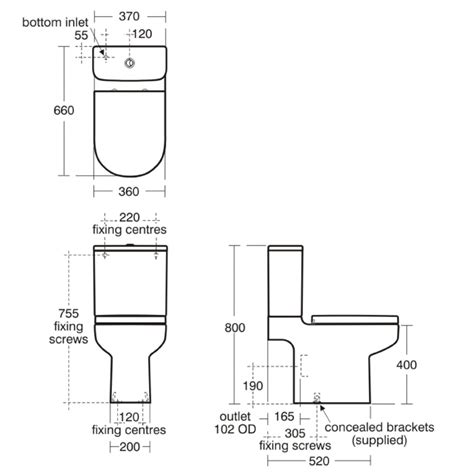 Water Closet Standard Size by Appealing Water Closet Sizes Standard Roselawnlutheran