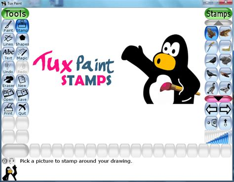 tux paint free play image gallery let s play tux paint