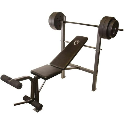 cap strength deluxe standard bench cap barbell deluxe standard bench with 100 lb weight set