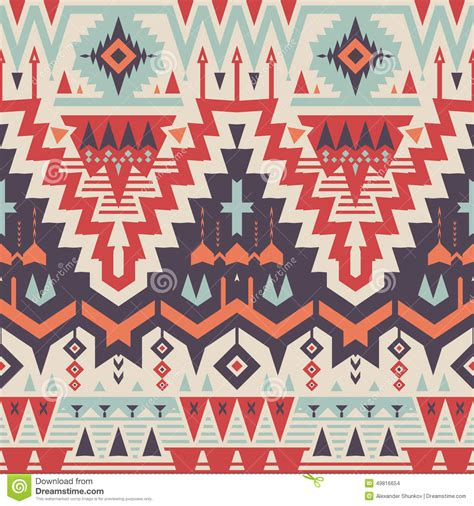 seamless tribal pattern vector seamless tribal pattern stock vector image 49816654