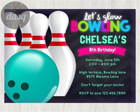 bowling pin invitation template instant bowling invitation printable bowling