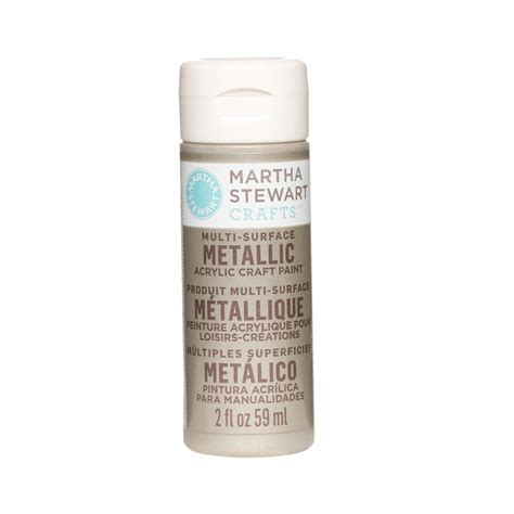martha stewart crafts 2 oz chagne multi surface metallic acrylic craft paint 32994 the
