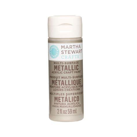 martha stewart crafts 2 oz chagne multi surface metallic acrylic craft paint 32994 the