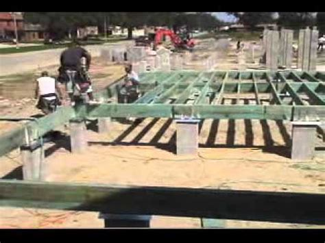 Piling House Plans by Raised Wood Floor Foundations Site Prep Amp Footings Youtube