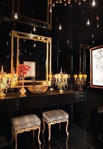 Black Gold Bathroom by
