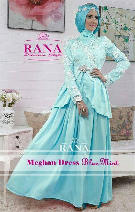 Baju Gamis Warna Baby Blue meghan dress blue mint baju muslim gamis modern