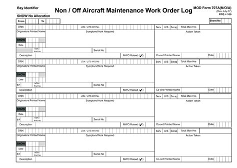27 Images Of Aircraft Maintenance Form Template Excel Kpopped Com Aircraft Logbook Entry Template