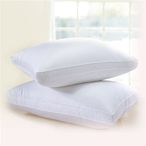 european heritage down opulence hypoallergenic firm white down bed pillow downright hima himalaya gusseted down