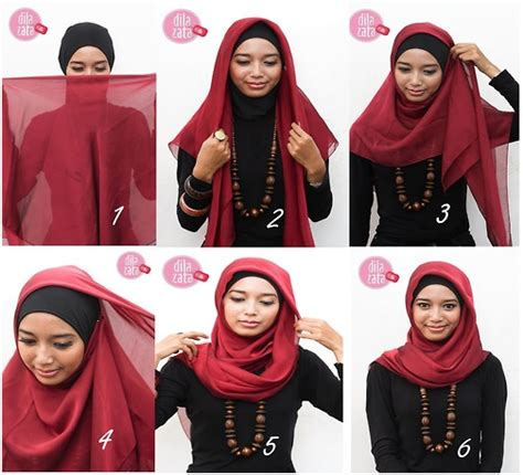 tutorial hijab paris elegan tutorial hijab sharing di sini