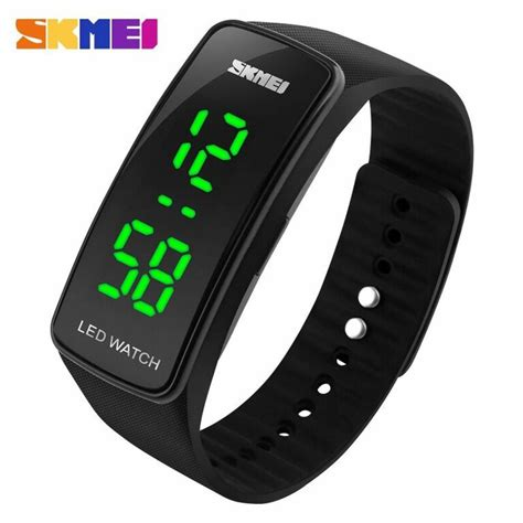 Jam Tangan Led Skmei Digital jual jam tangan pria skmei digital sport rubber led